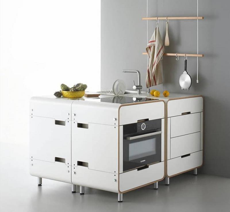 Необычная модульная кухня 2