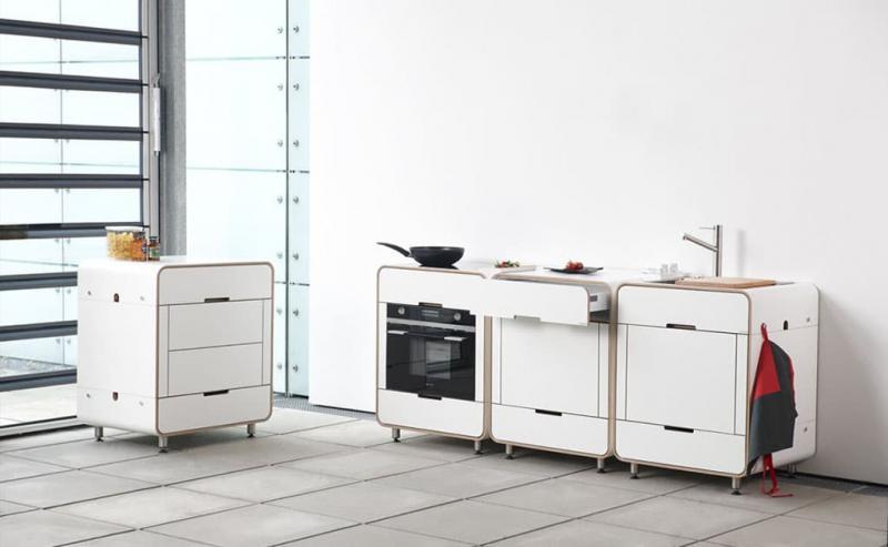 Необычная модульная кухня 3