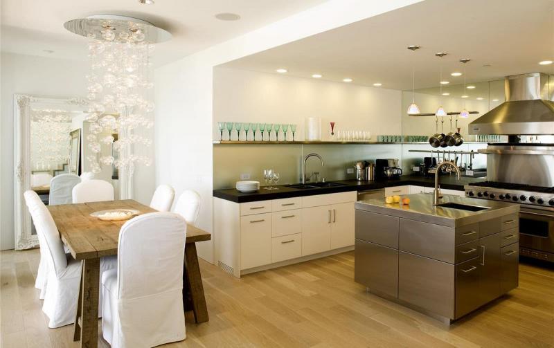 Освещение в интерьере кухни 1