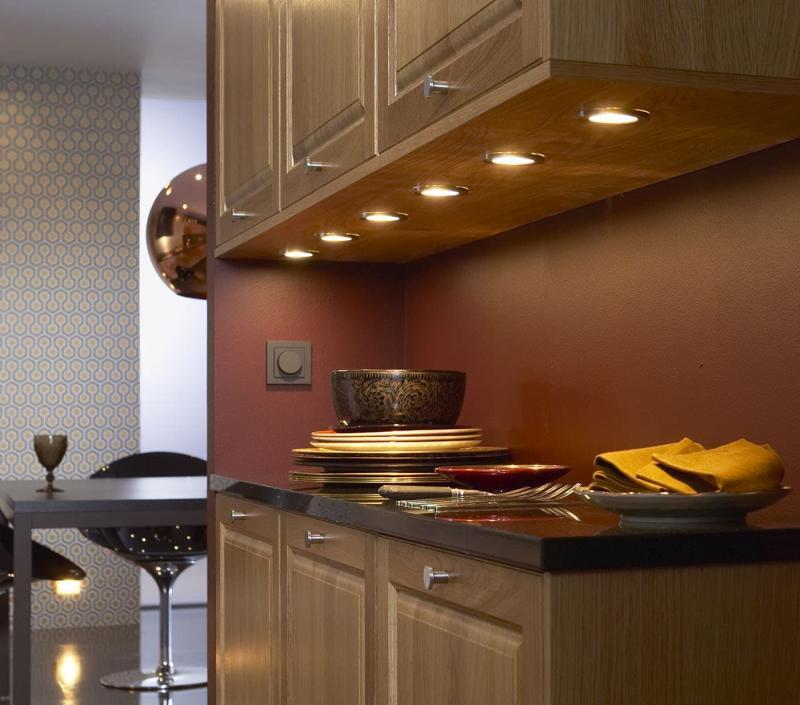Освещение в интерьере кухни 2