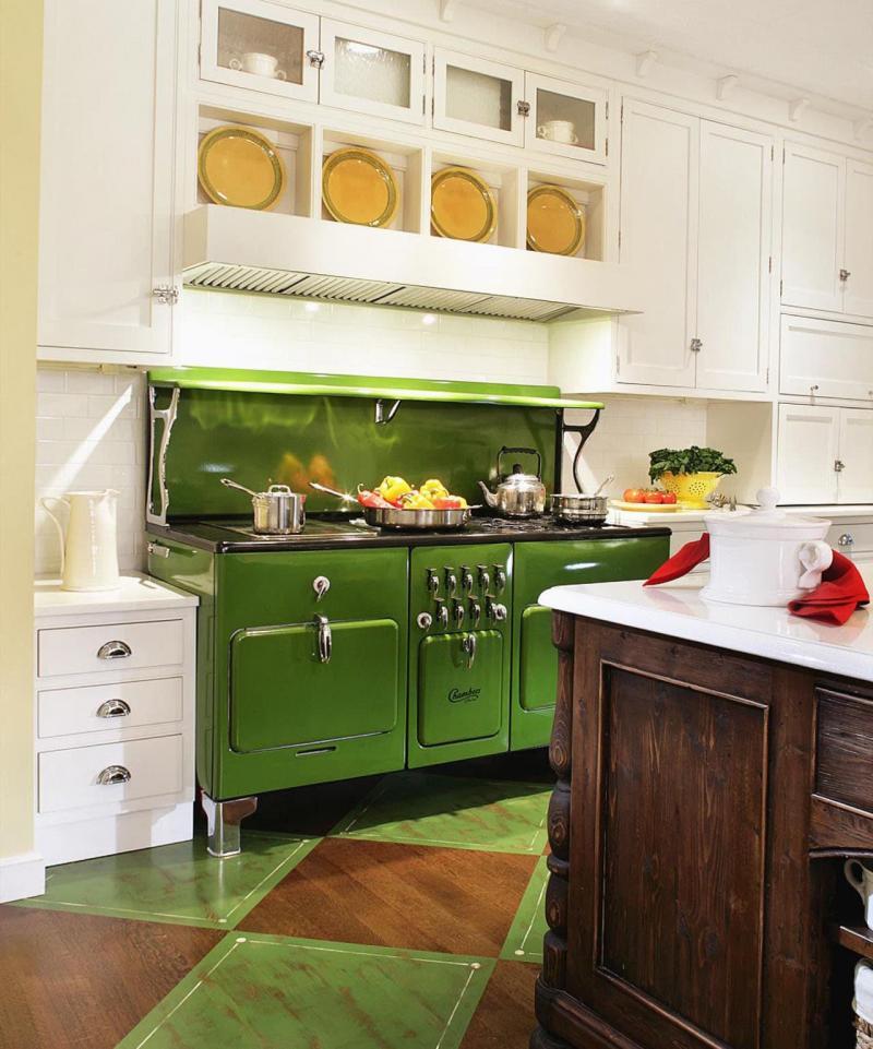Плита в интерьере кухни 3