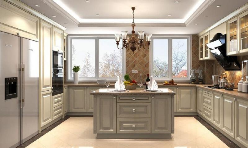 Потолк на кухне из гипсокартона