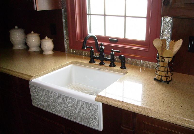 Раковина для мытья посуды из камня
