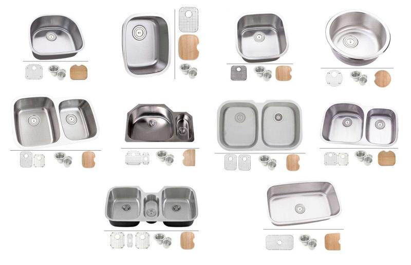 Раковины для мытья посуды разных форм