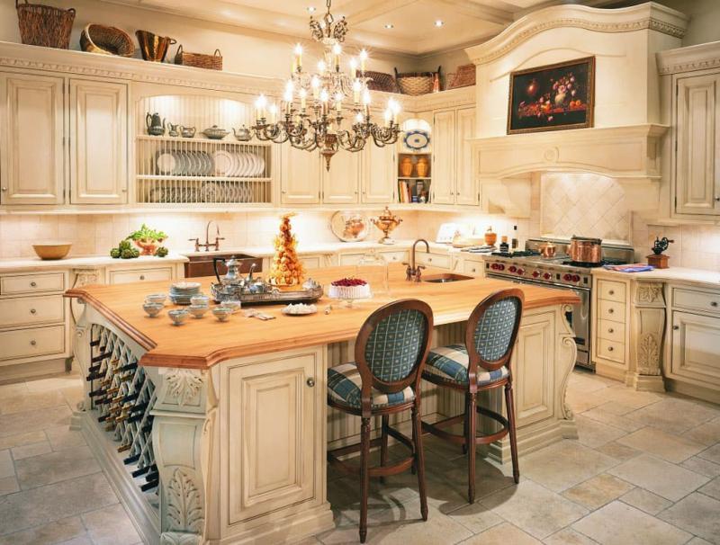 Светильники в интерьере кухни 2