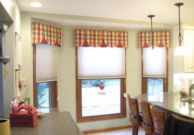 Curtains for kitchen with bay window 1