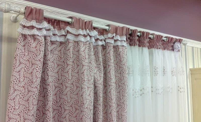 Curtains for the kitchen with eyelets 3