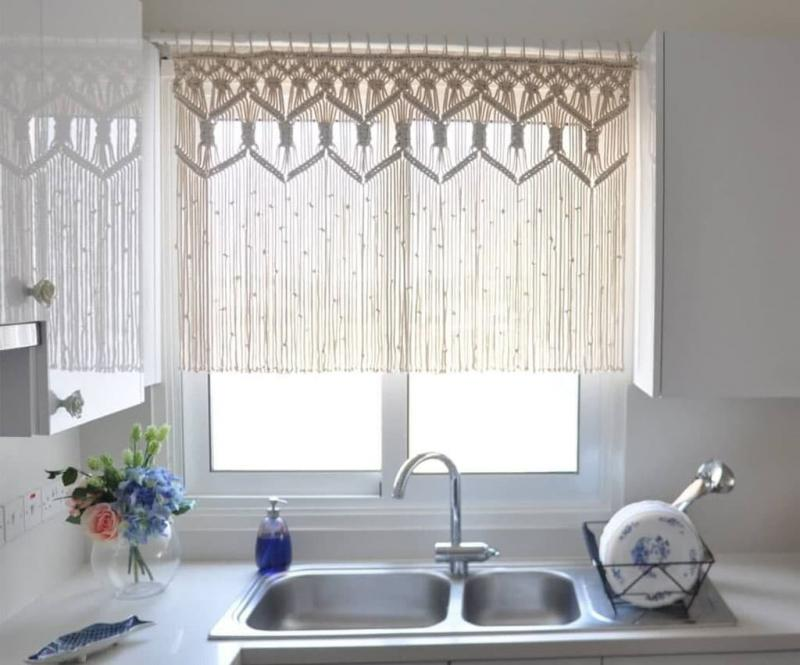Curtains for the kitchen in a modern style 1