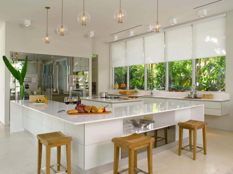 Шторы для кухни в современном стиле 3