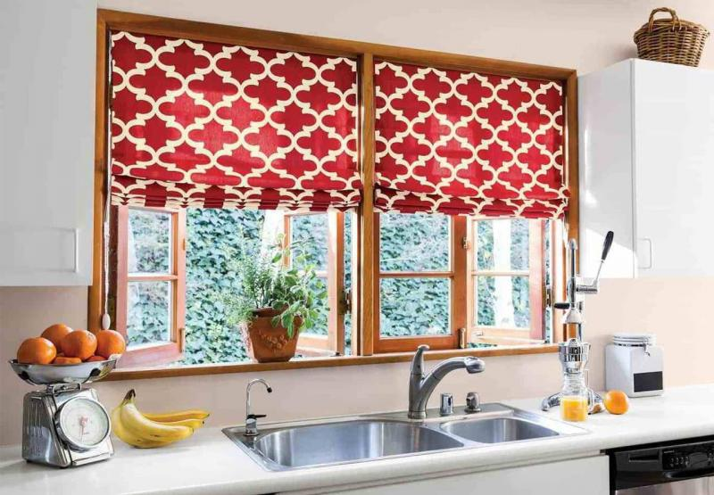 Curtains for kitchen eclectic style 2