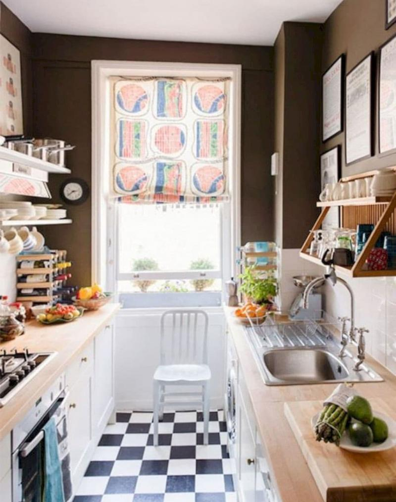 Curtains for kitchen eclectic style 4