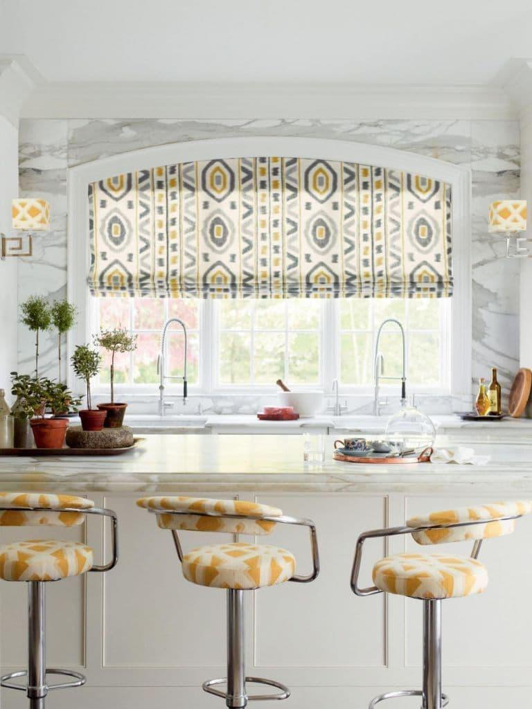 Curtains for kitchen eclectic style 5