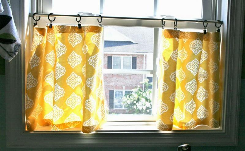 Curtains for kitchen eclectic style 6