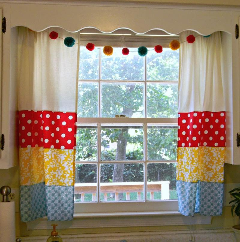 Curtains for kitchen in country style 1