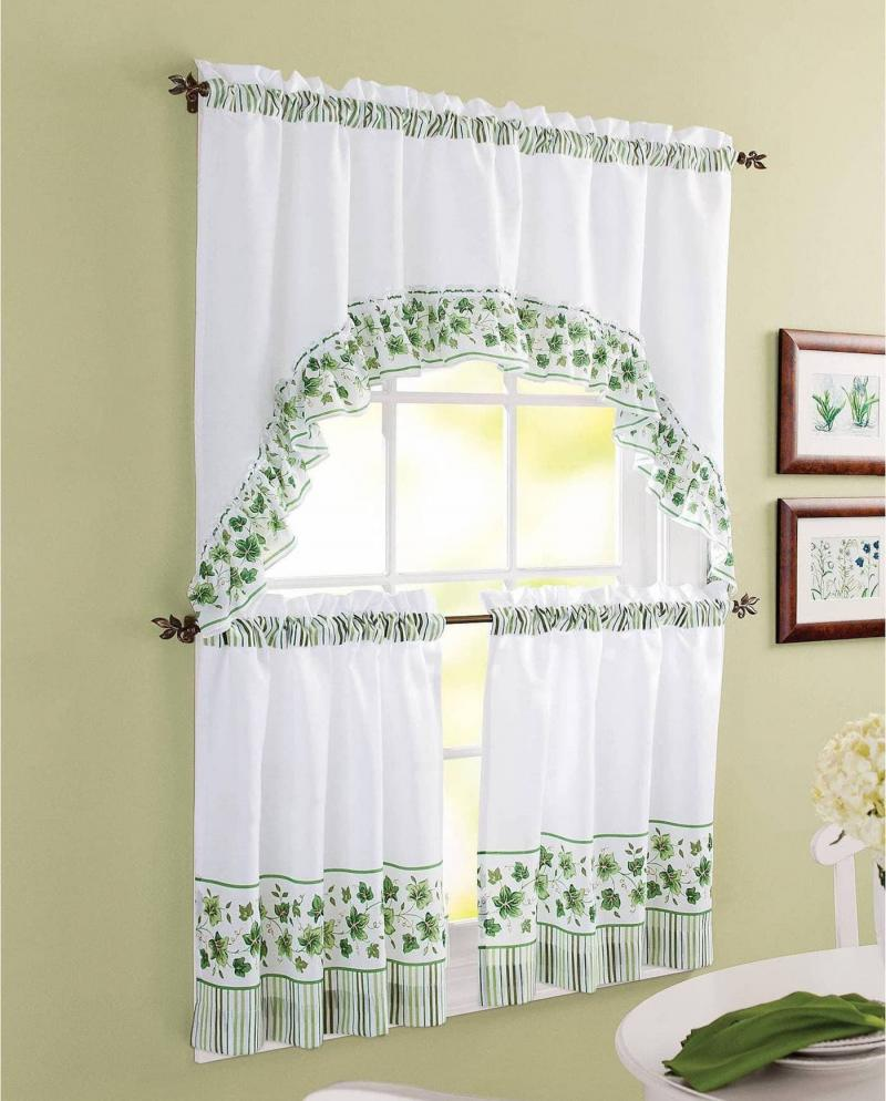 Curtains for kitchen in country style 2