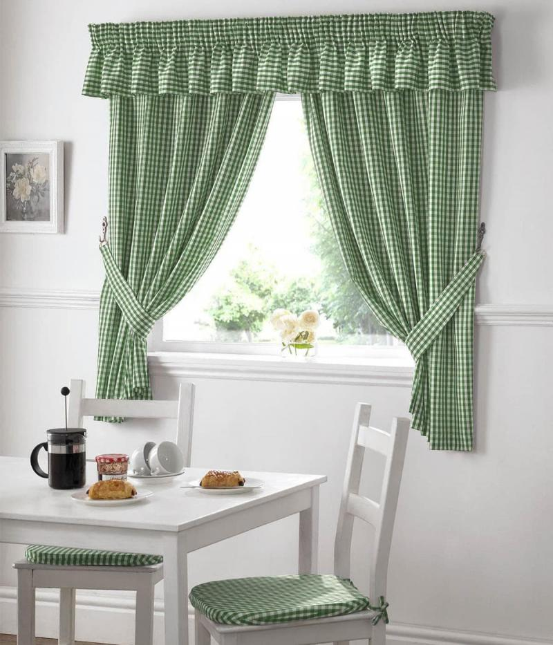 Curtains for kitchen in country style 3