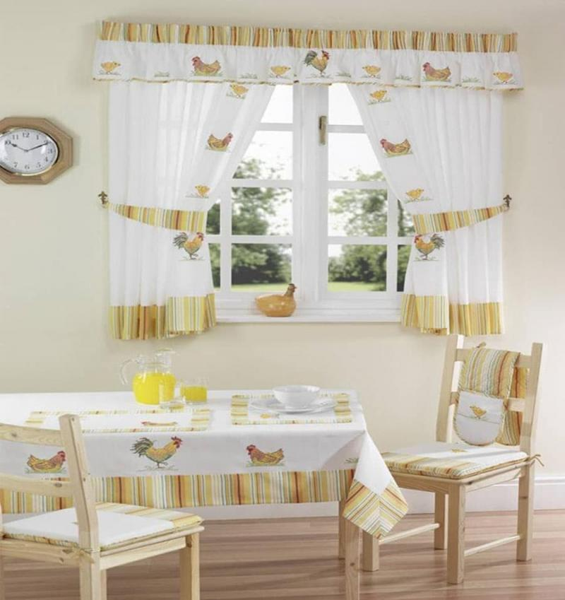 Curtains for kitchen in country style 4