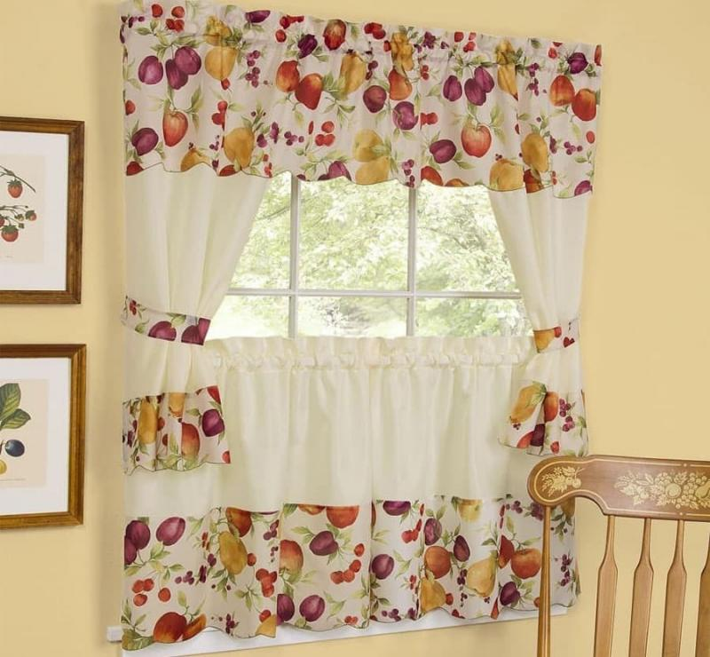 Curtains for kitchen in country style 5