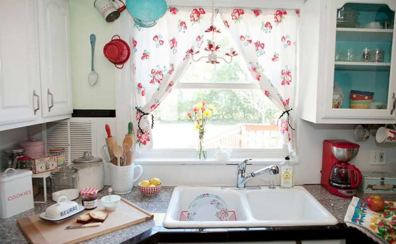 Curtains for kitchen in country style 7