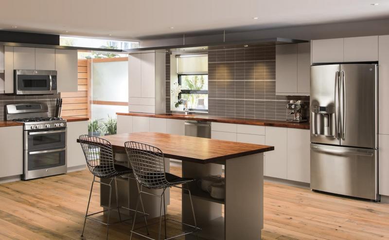 Шторы для кухни в стиле минимализм 1
