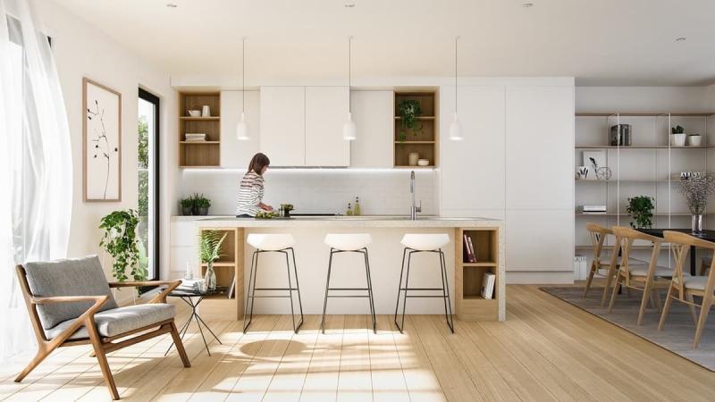 Шторы для кухни в стиле минимализм 2