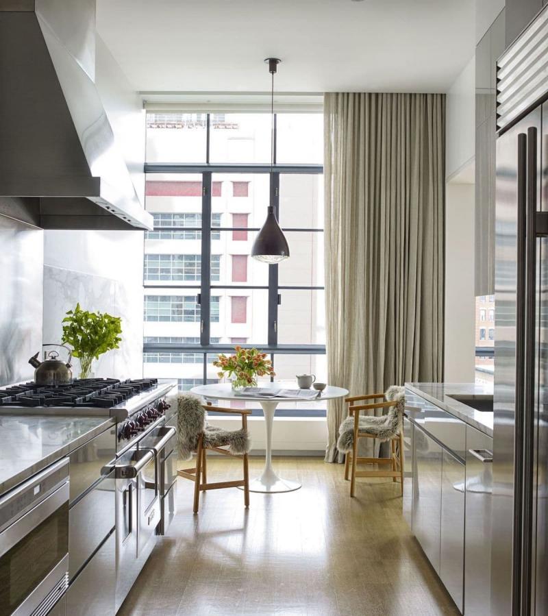Шторы для кухни в стиле минимализм 3