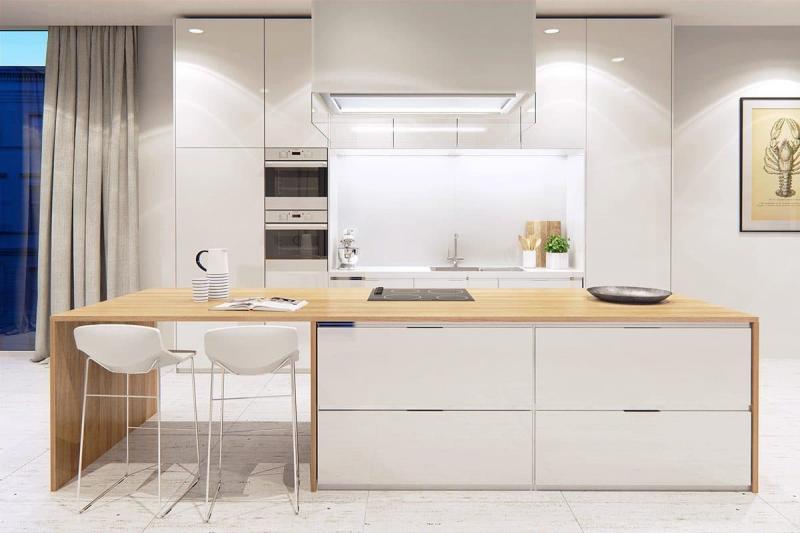 Шторы для кухни в стиле минимализм 5
