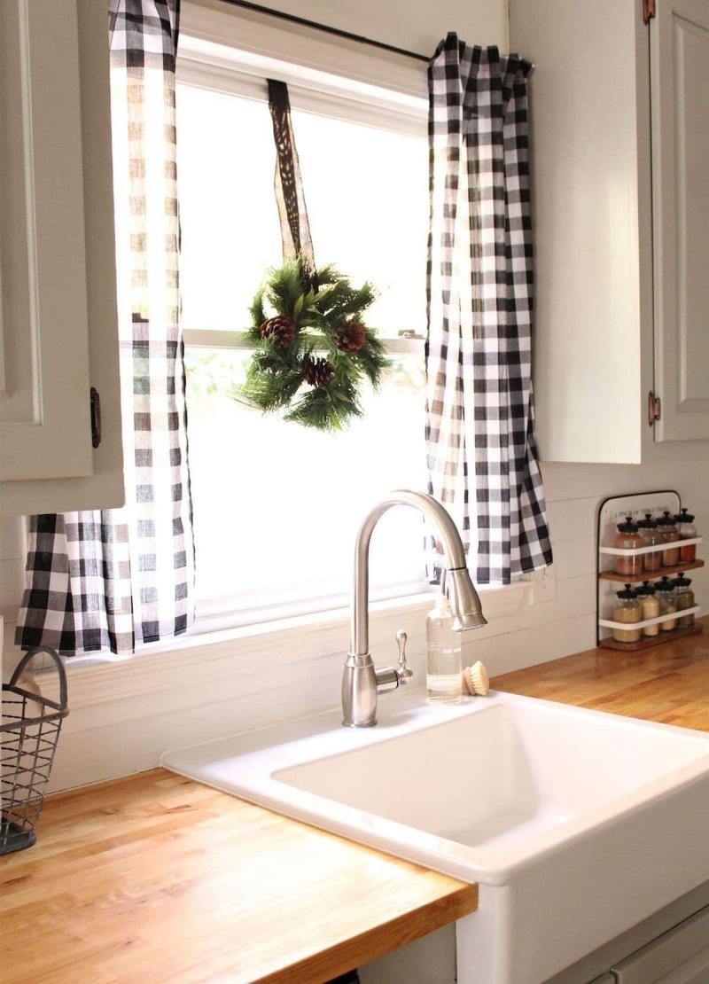 Curtains for the kitchen in the style of Provence 3