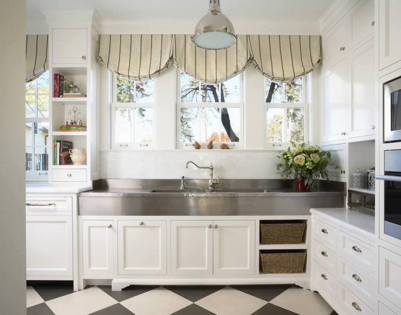 Шторы для кухни в стиле прованс 9