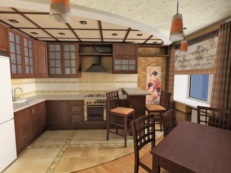 Шторы для кухни в восточном стиле 2
