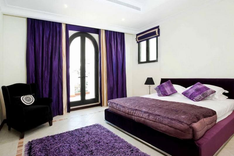 Фиолетовые шторы для спальни 4