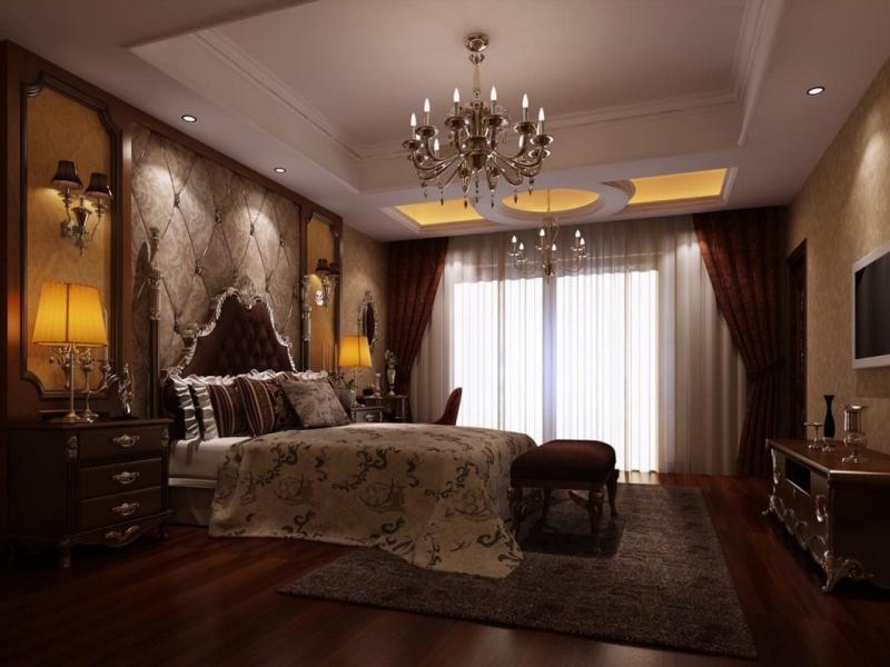 Коричневые шторы для спальни 5