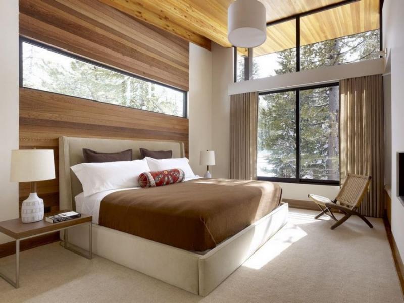 Коричневые шторы для спальни 8