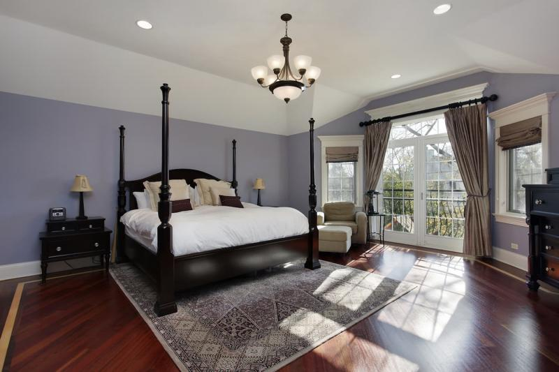 Шторы для спальни с балконом 4