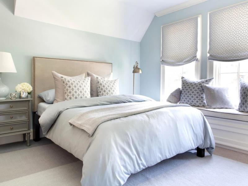Шторы для спальни с двумя окнами 7