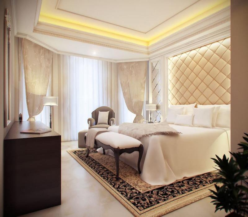 Шторы для спальни в классическом стиле 2