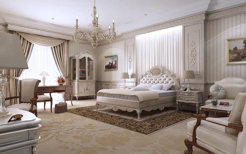 Шторы для спальни в классическом стиле 3