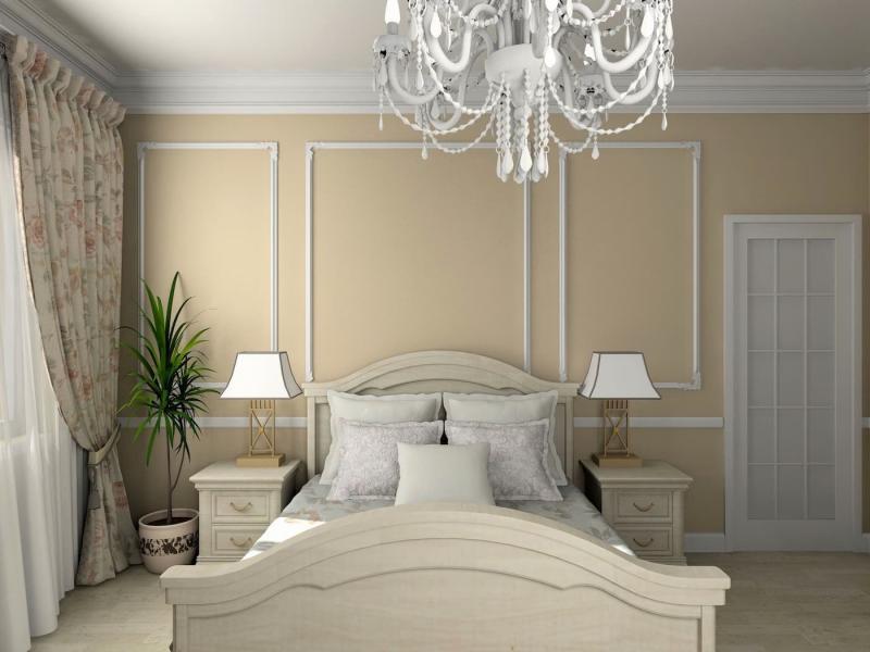 Шторы для спальни в классическом стиле 9