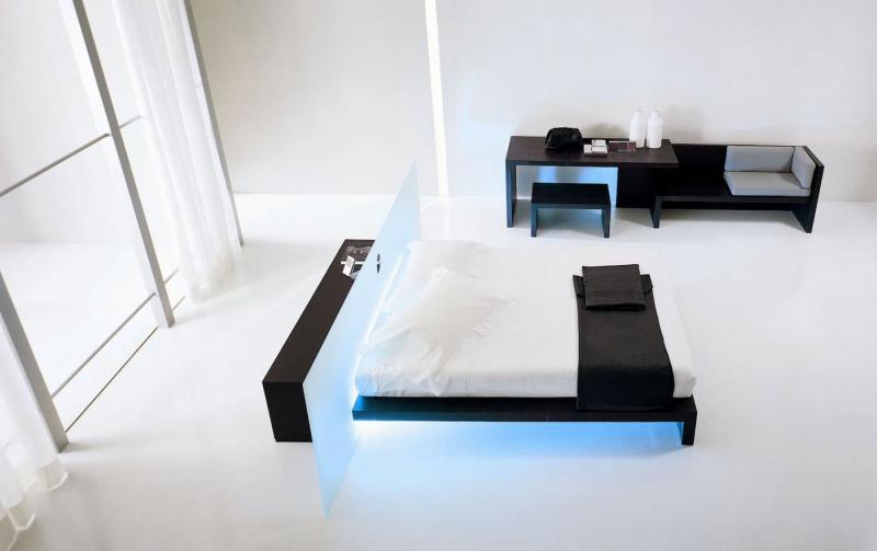 Шторы для спальни в стиле хайтек 3