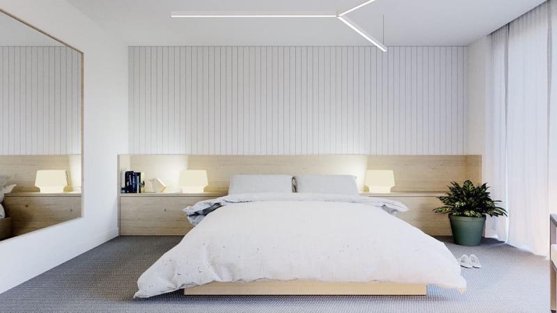 Шторы для спальни в стиле минимализм 1