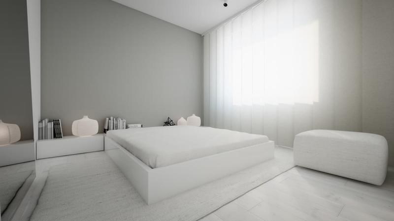 Шторы для спальни в стиле минимализм 10