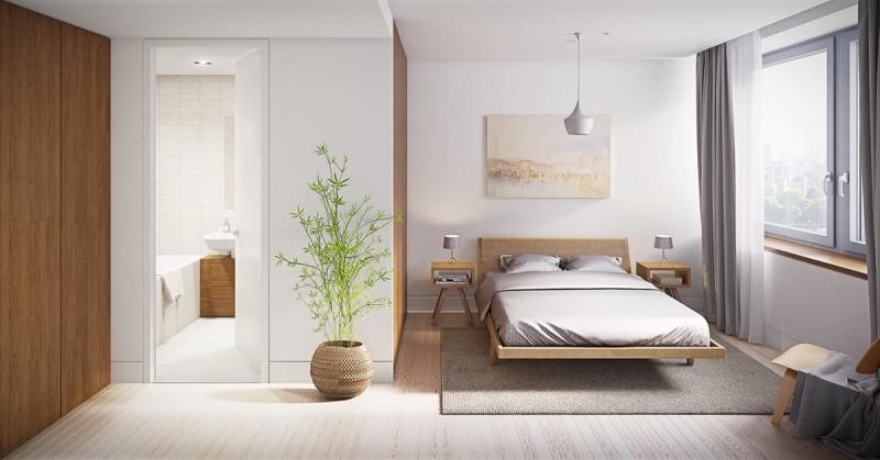 Шторы для спальни в стиле минимализм 4