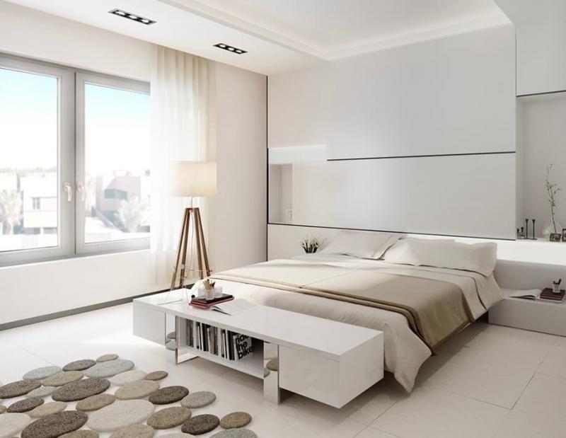 Шторы для спальни в стиле минимализм 5