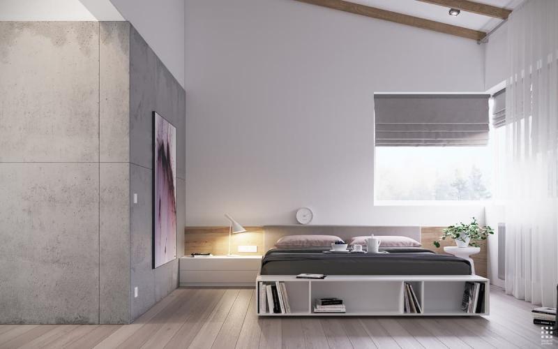 Шторы для спальни в стиле минимализм 6