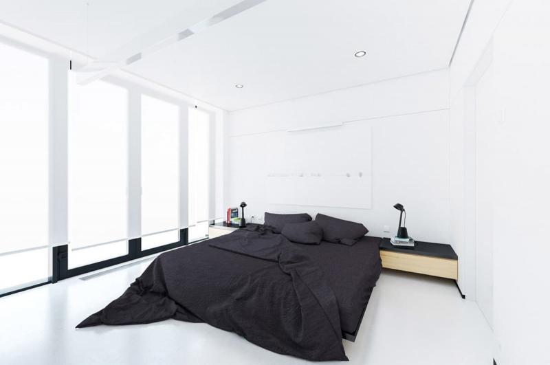 Шторы для спальни в стиле минимализм 8
