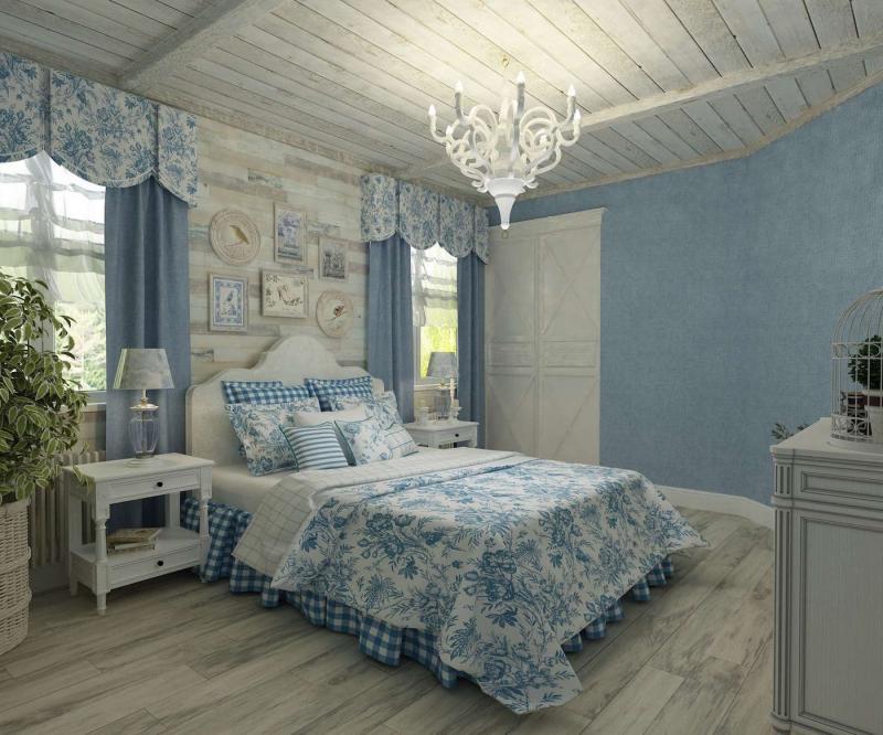 Шторы для спальни в стиле прованс 5