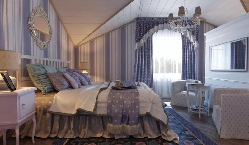Шторы для спальни в стиле прованс 6