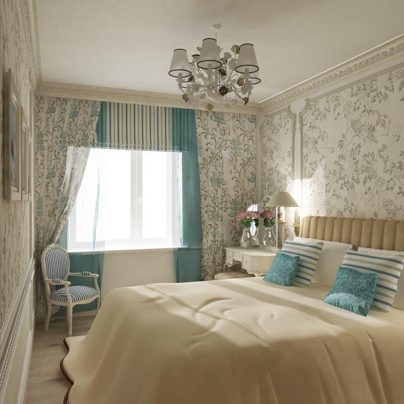 Шторы для спальни в стиле прованс 9