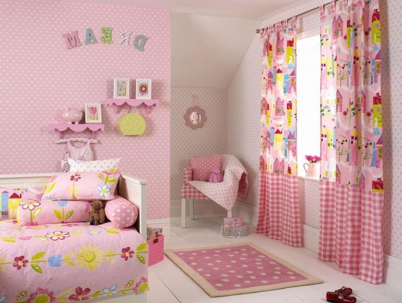 Шторы в спальню для девочки 1
