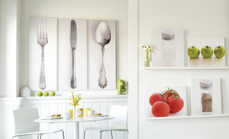 кухонные обои белая гамма 11